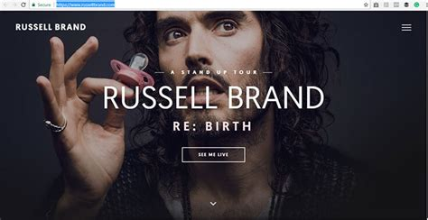 russell brand website 10 celebrity websites you won t believe were built with