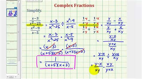 Ex 2 Simplify A Complex Fraction (variables) Youtube