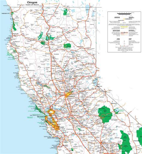 map  northern california