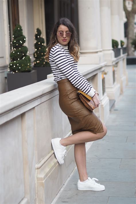 dress   faux leather pencil skirt whats