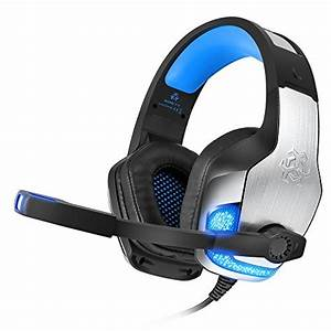 3 5mm Blue  U2013 Bengoo Professional Wired Gaming Headset With