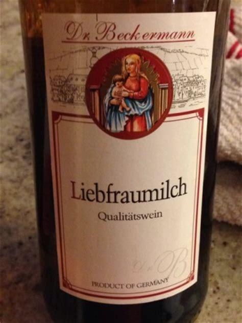 cuisine beckermann dr beckermann liebfraumilch