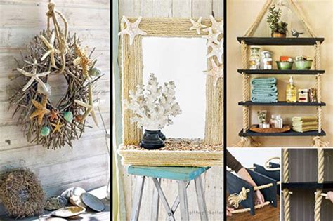 Home Decor Ideas Diy : 36 Breezy Beach Inspired Diy Home Decorating Ideas