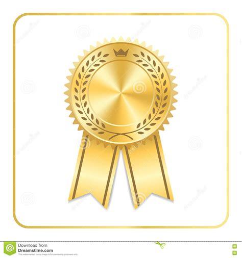 14764 award ribbon icon vector award ribbon icon vector rounded award badge with