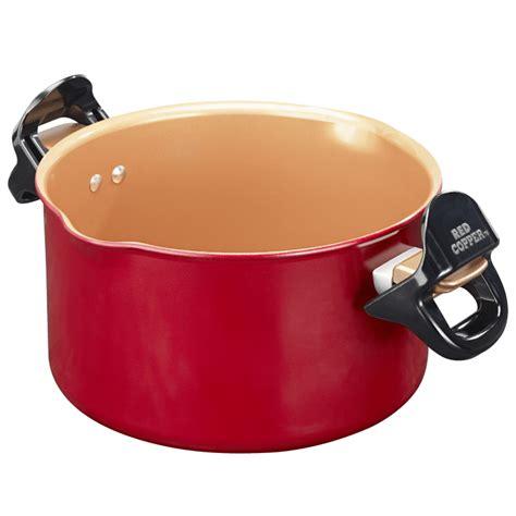 red copper  pasta pot