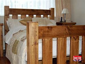 Handcrafted in Derbyshire Plank Wooden Slat Bed by Incite