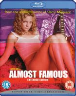 Almost Famous Bluray Extended Edition (united Kingdom