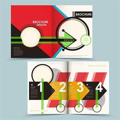 Fold Creative Brochure Half Geometric Template Tri