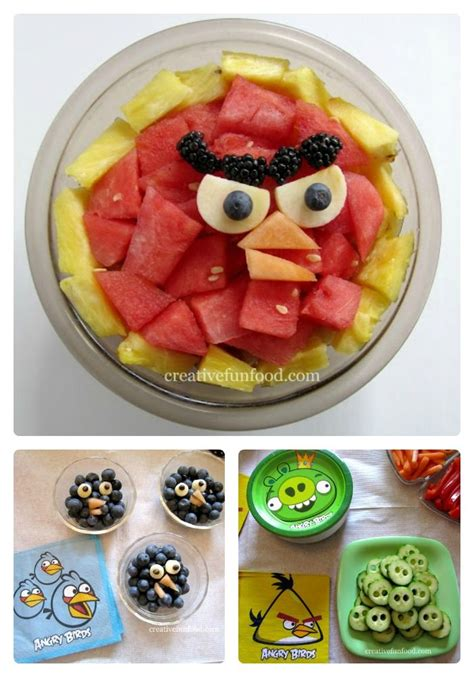 creation cuisine angry birds food from the mamas creative for
