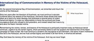 The White House Didn't Mention Jews In Its Holocaust ...