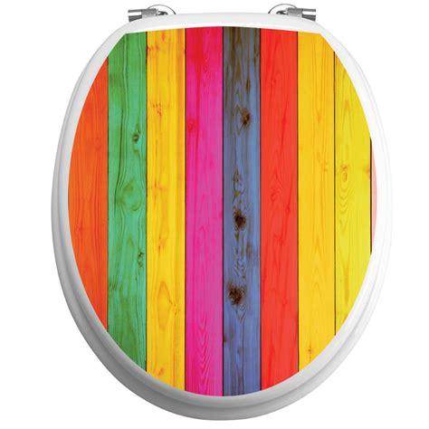sticker abattant toilette bois multi couleurs stickers toilettes abattants wc ambiance sticker