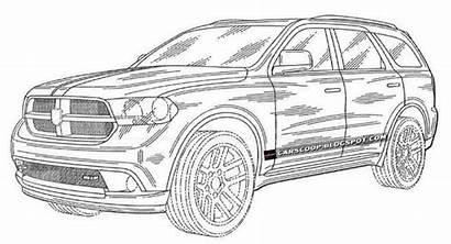 Dodge Drawings Durango Suv Cars Sketch Sketches