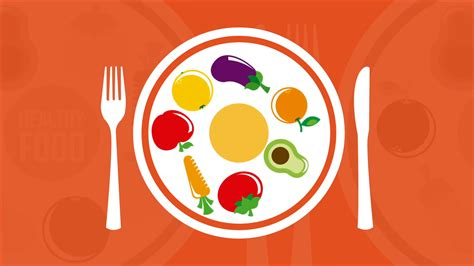 Animated Food Wallpaper - dish with healthy food animation motion background