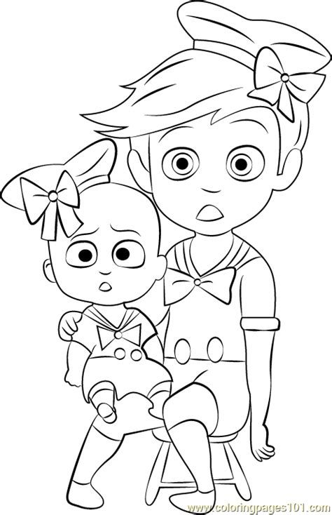 boss baby costume coloring page   boss baby