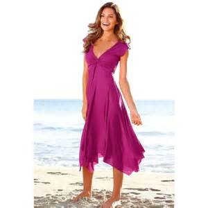brautkleider fã r den strand chiffon wadenlang strand v ausschnitt sommerkleider