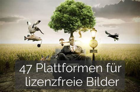 liste mit  plattformen fuer lizenzfreie bilder