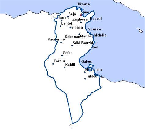 Carte De Tunisie Avec Villes by Cartes De Tunisie