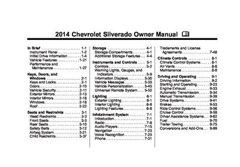 chevrolet silverado owners manual  give