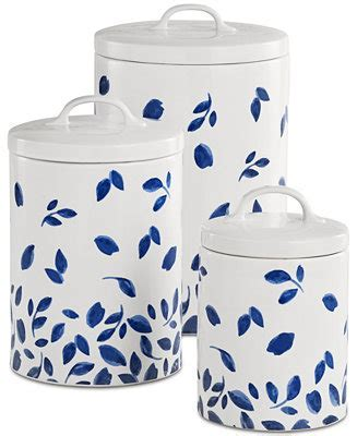 Martha Stewart Collection 6 Pc. Stockholm Lidded Canisters Set, Created for Macy's Dinnerware