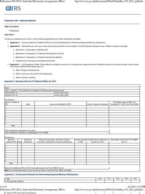 irs pub  worksheet   printables worksheet