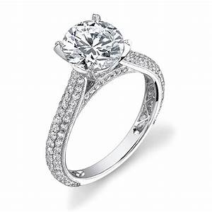 Pave engagement diamond rings wedding promise diamond for Pave wedding rings