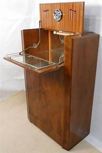 Deco Burr Walnut Cocktail Cabinet