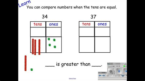 chapter  comparing numbers   place  chart