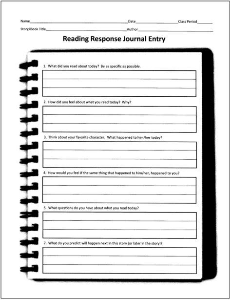 images  reading reflection worksheet  grade