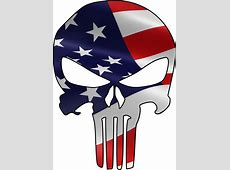 Full Color Decals Skull Decals Punisher Skull Decal