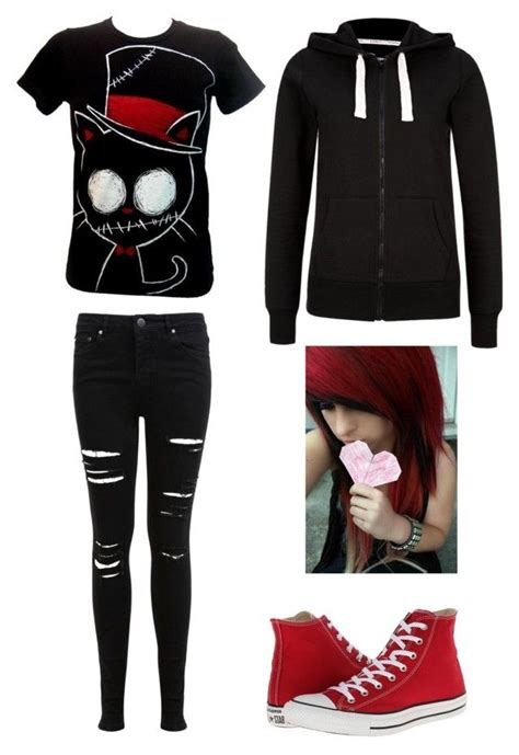 Emo outfit #1 by amberpend on Polyvore featuring polyvore fashion style Miss Selfridge and ...
