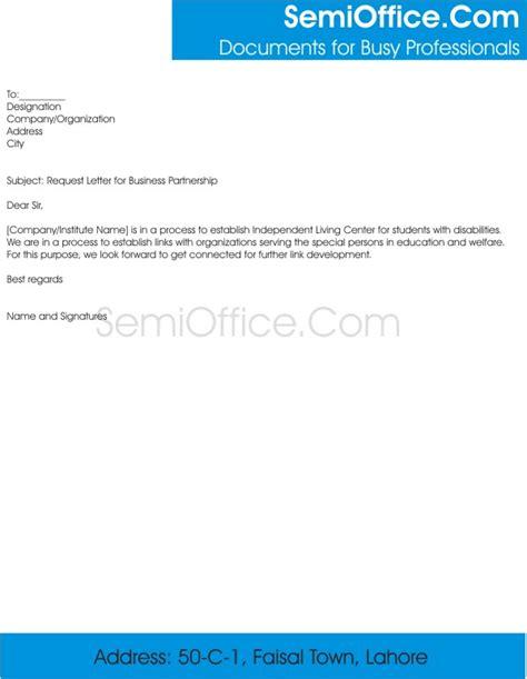 sample business letter requesting partnership sample