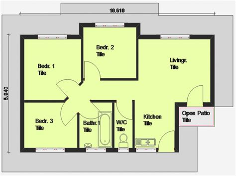 blueprints of homes cheap 3 bedroom house plan 3 bedroom house plan south
