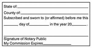 Texas Notary Format Jurat Affidavit Stamp Self Inking Rectangular