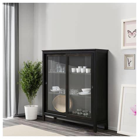 black cabinet with doors hemnes glass door cabinet black brown 120x130 cm ikea