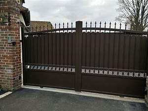 Modele De Portail Coulissant : portail aluminium coulissant de forme bomb e mod le ~ Premium-room.com Idées de Décoration