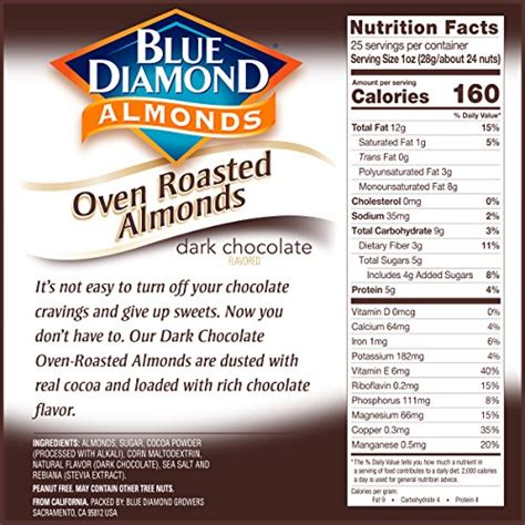 buy blue diamond almonds oven roasted cocoa dusted