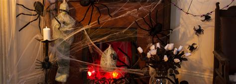 halloween spider decorations fake cobwebs party delights