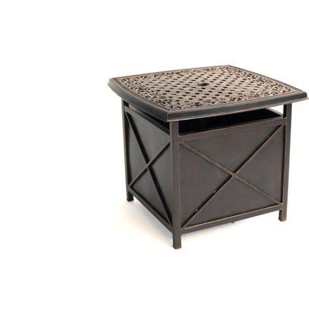 hanover outdoor traditions cast top side tableumbrella