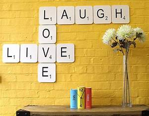39live laugh love39 giant scrabble wall tiles by copperdot With giant scrabble letters