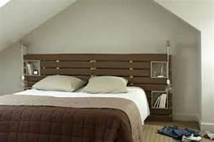 Palette Bois Pas Cher : tete de lit en palette ~ Premium-room.com Idées de Décoration