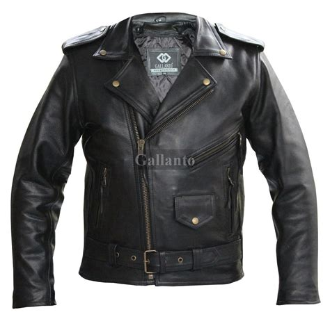 Cowhide Leather Jacket by Thick Cowhide Marlon Brando Biker Leather Jacket
