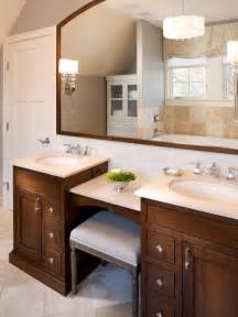 Master Bathroom Vanity With Makeup Area double vanity with makeup area home pinterest
