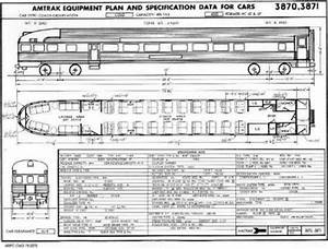 Amtrak Passenger Car Diagrams 1976 1977 In 2020