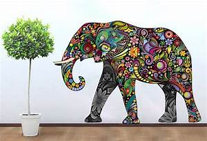 Wall Art Ideas Design : Awesome Mandala Damask Elephant ...