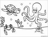 Ocean Under Marine Pages Floor Coloring Printable sketch template