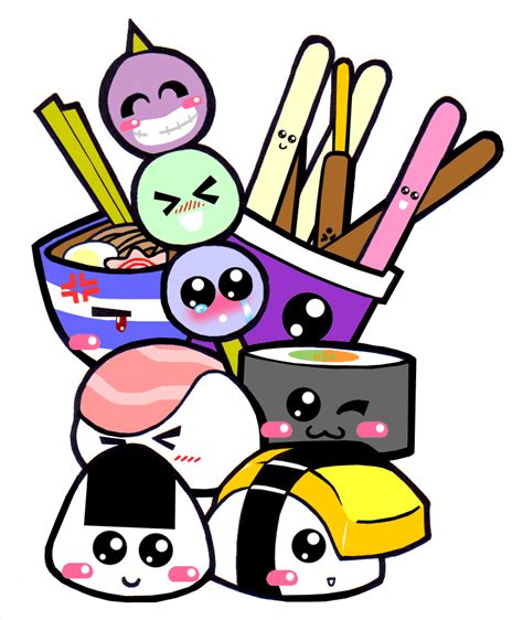 cute japanese cartoon characters clipart
