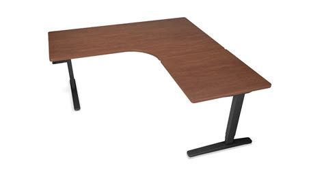 l shaped adjustable desk height adjustable standing desk with laminate l shaped top