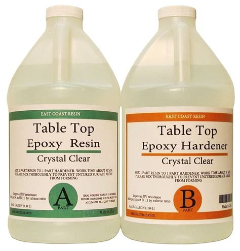 Table Top Epoxy Resin 1 Gal Kit Crystal Clear Ebay