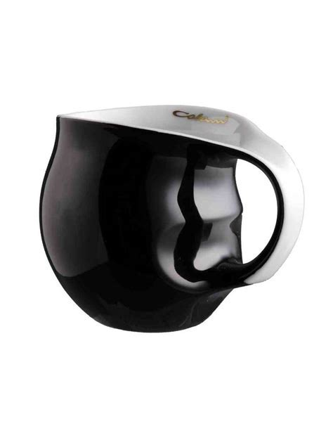 Kaffeebecher Schwarz, Tasse aus Porzellan, Luigi Colani