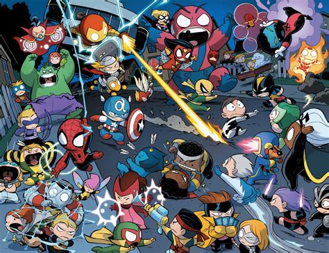foto de Avengers vs X Men Babies by Skottie Young Chibi marvel